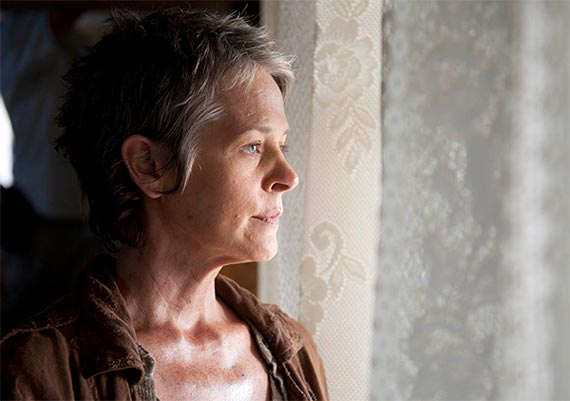 Carol dans The Walking Dead saison 4 episode 14 (The Grove)