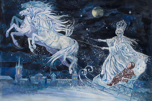the snow queen conte illustration 600x400 - La Reine des neiges : des origines du conte à Once Upon a Time