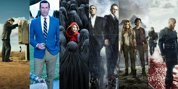 Better Call Saul, Homeland, Mad Men, Person of Interest, The 100 et Vikings