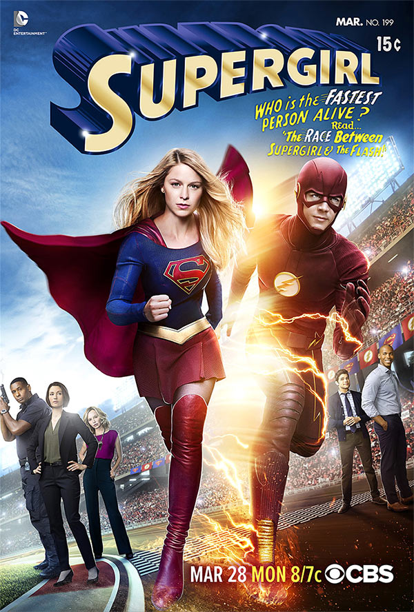 supergirl the flash poster - Supergirl rencontre The Flash sur une première affiche qui annonce un diffusion fin mars